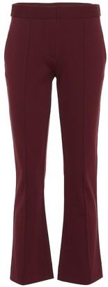 Diane von Furstenberg Mid-rise cropped bootcut pants