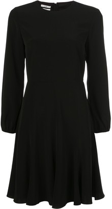 Co Long-Sleeved Flared Midi Dress