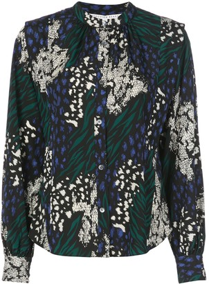 Veronica Beard Buckley animal print shirt