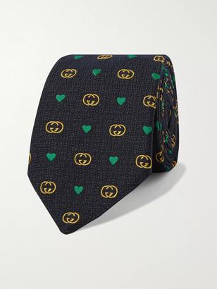 Gucci 7.5cm Logo-Jacquard Wool And Silk-Blend Tie