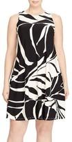 Lauren Ralph Lauren Plus Size Women's Tropical Print Jersey Shift Dress