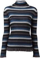 Twin-Set turtleneck striped jumper