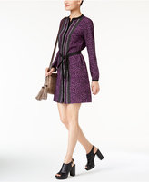 MICHAEL Michael Kors Mixed-Print Belted Dress, Created for Macy's