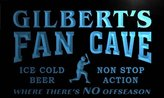AdvPro Name tc1237-b Gilbert's Baseball Fan Cave Man Room Bar Beer Neon Light Sign
