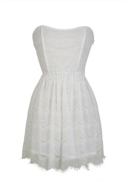 Delia's Scalloped Lace Dress