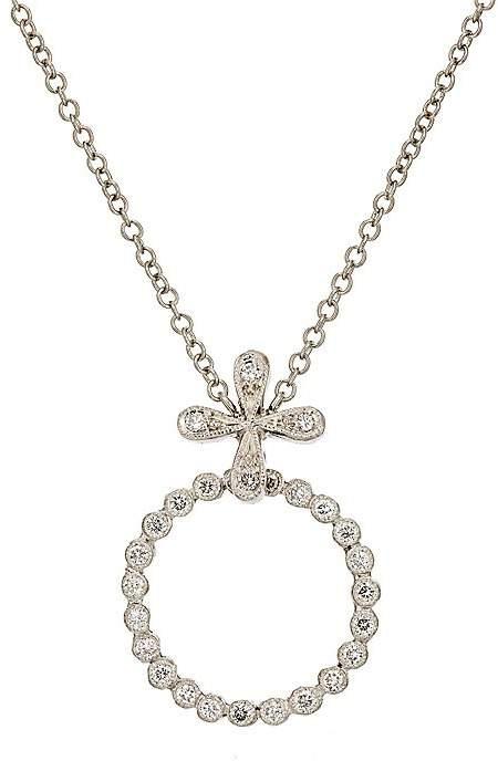 Cathy Waterman Women's Diamond-Circlet Pendant Necklace