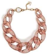 Diana Broussard Nate Large Chain Necklace In Pink