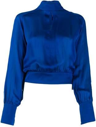 Balmain silk turtleneck blouse