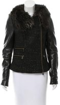 Rebecca Minkoff Fur-Trimmed Tweed Jacket