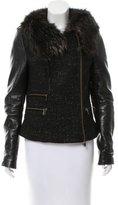 Rebecca Minkoff Fur-Trimmed Tweed Jacket