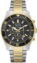 Bulova Men's Chronograph Marine Star Two-Tone Stainless Steel Bracelet Watch 43mm 98B249