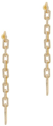 Fallon Pave Crystal-embellished Gold-plated Drop Earrings