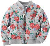 Carter's Girls 4-8 Floral Bomber Jacket