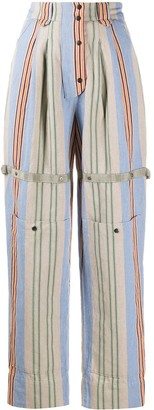Etro Striped High-Waist Trousers