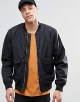 Weekday Boo Bomber Jacket Black