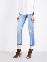 Paige Taylor released-hem straight cropped mid-rise jeans
