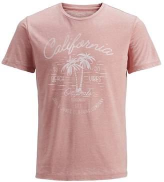 Jack and Jones Chest Print Short Sleeve Crew Neck T-Shirt