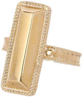 Anna Beck 18K Gold Plated Sterling Silver Long Bar Ring