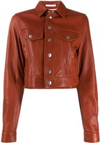 Helmut Lang point-collar cropped jacket