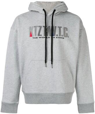 Kokon To Zai Mountain embroidered hoodie