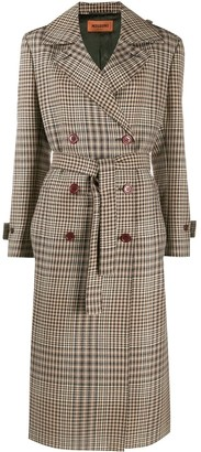 Missoni Check-Pattern Double-Breasted Coat