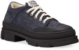 Ganni Hybrid Denim Canvas Sneakers