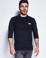 10.Deep Breezy 3/4 Mesh Sleeve T-Shirt Black