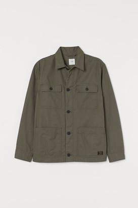 H&M Twill Shirt Jacket - Green