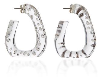 Simon Miller Acrylic Triangle Hoop Earrings