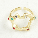 Maje Ring with Swarovski crystals