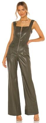 Alexis Reverie Vegan Leather Jumpsuit