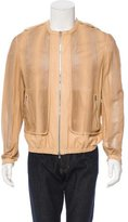 Fendi Laser Cut Leather Jacket