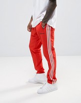 adidas London Pack Block Tapered Joggers In Red BK7867