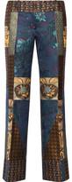 Etro Patchwork Jacquard Flared Pants