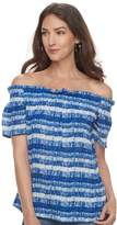 Juicy Couture Women's Striped Off-the-Shoulder Top