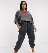 Public Desire Curve relaxed sweatpants in acid wash two-piece