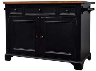 Gerson Darby Home Co Drop Leaf Kitchen Island Darby Home Co Base Finish: Black