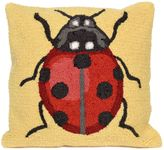 Liora Manné Frontporch Ladybug Square Indoor/Outdoor Throw Pillow in Yellow