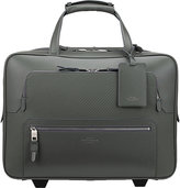 Smythson Greenwich Lacquered Cotton And Calf Leather Business Trolley