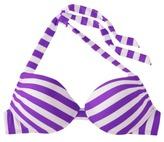 Mossimo Women's Mix and Match Stripe Push-Up Swim Top -Grape