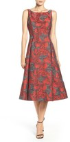 Adrianna Papell Women's Jacquard Midi Dress