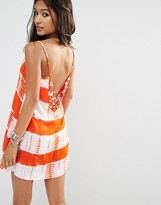 Glamorous Tie Dye Cami Dress With Ring Back Detail
