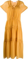 See by Chloe tiered ruched dress