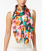 Echo Dotty Floral Silk Scarf