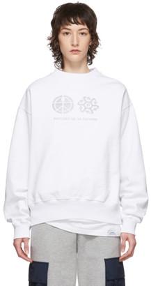 Rassvet White Reflective Print Sweatshirt