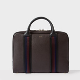 Paul Smith Men's Brown Leather 'City Webbing' Folio