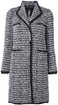 Giambattista Valli tweed long coat - women - Acrylic/Polyamide/Polyester/Virgin Wool - 42