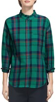 Whistles Laurie Check-Print Shirt