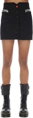 Heron Preston Tailored Techno Mini Skirt