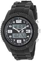 U.S. Marines Men's Analog-Digital Chronograph Silicone Strap Watch by Wrist Armor